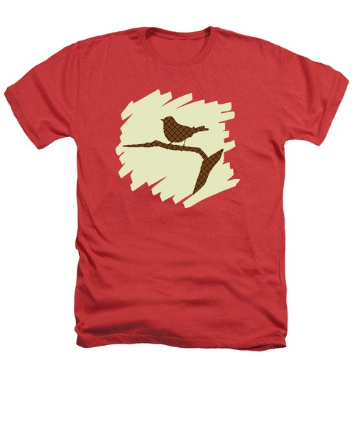 Brown Bird Silhouette Modern Bird Art Heathers T-Shirt by Christina Rollo