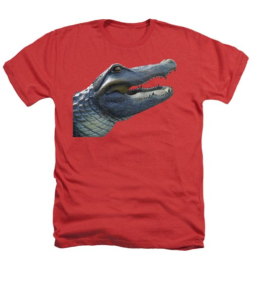 Bull Gator Portrait Transparent For T Shirts Heathers T-Shirt by D Hackett