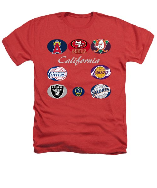 California Professional Sport Teams Collage  Heathers T-Shirt