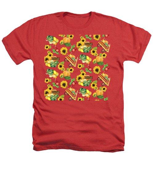 Celebrate Abundance Harvest Half Drop Repeat Heathers T-Shirt by Audrey Jeanne Roberts