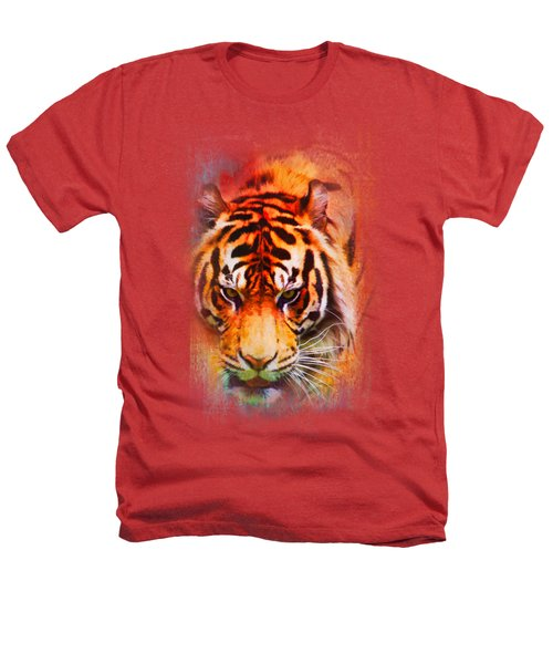 Colorful Expressions Tiger Heathers T-Shirt by Jai Johnson