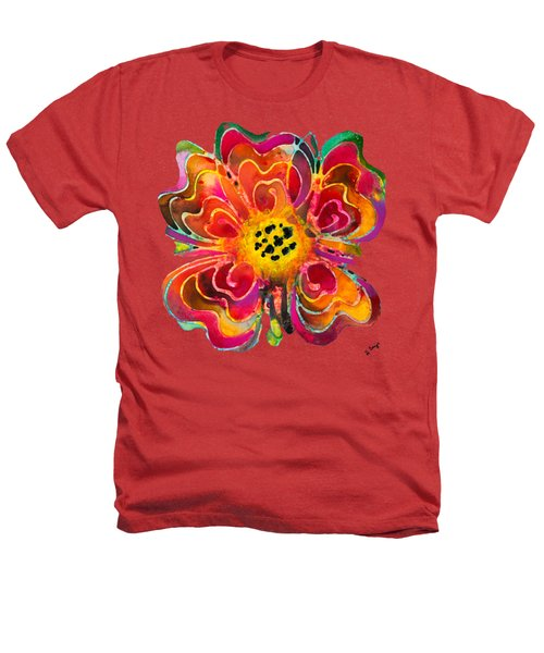 Colorful Flower Art - Summer Love By Sharon Cummings Heathers T-Shirt by Sharon Cummings