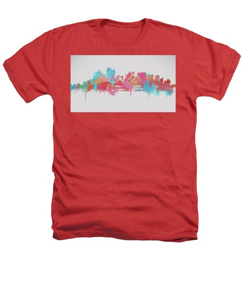 Colorful Sydney Skyline Silhouette Heathers T-Shirt by Dan Sproul