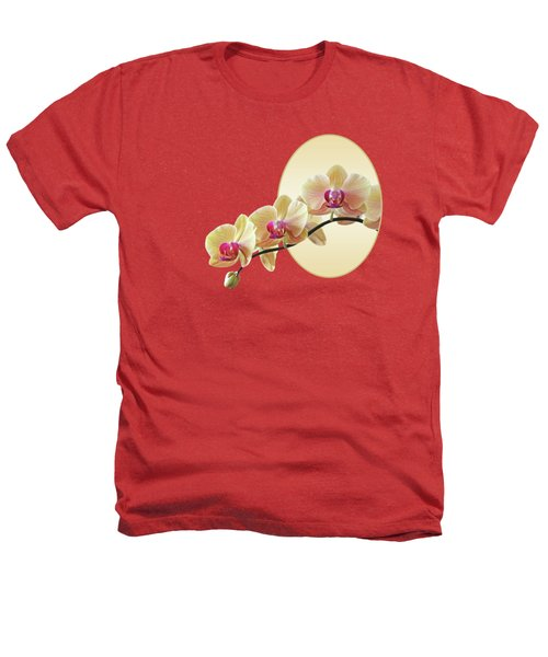 Cream Delight - Square Heathers T-Shirt by Gill Billington