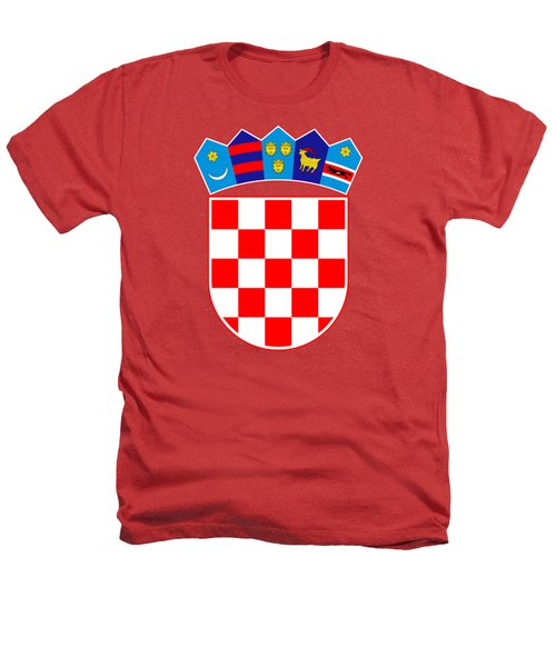 Croatia Coat Of Arms Heathers T-Shirt by Movie Poster Prints