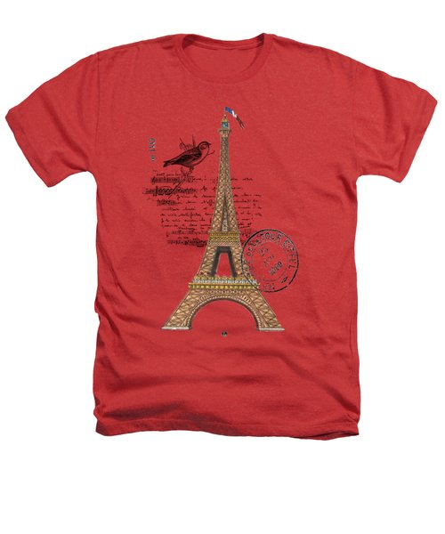 Eiffel Tower T Shirt Design Heathers T-Shirt by Bellesouth Studio