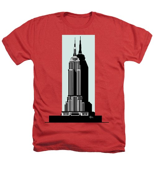 Empire State Building Deco Minimal Heathers T-Shirt by Cecely Bloom