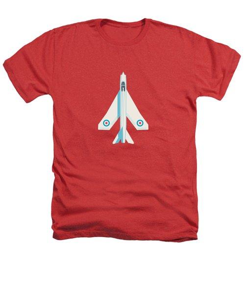 English Electric Lightning Fighter Jet Aircraft - Crimson Heathers T-Shirt