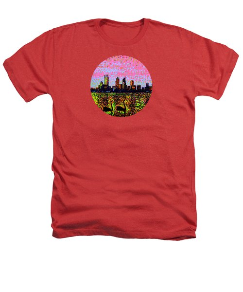 Golden Skyline Perth Heathers T-Shirt by Alan Hogan