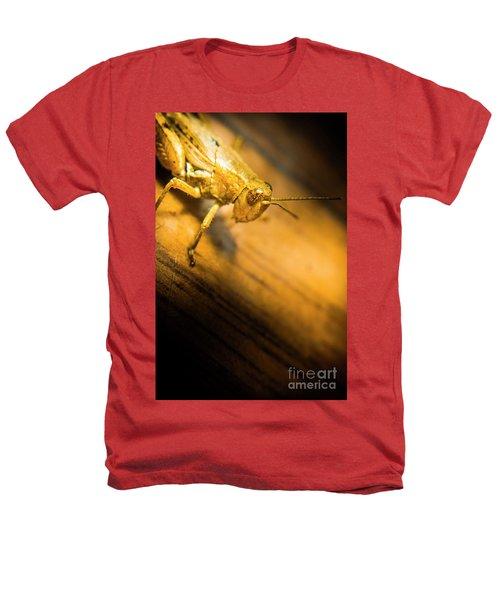 Grasshopper Under Shining Yellow Light Heathers T-Shirt