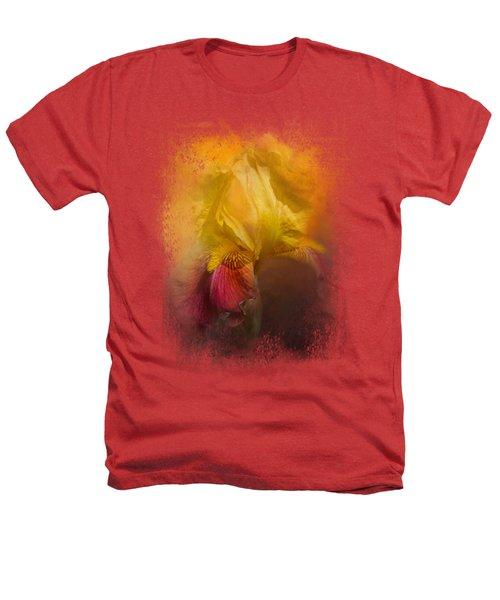 Iris In Miss June's Garden Heathers T-Shirt