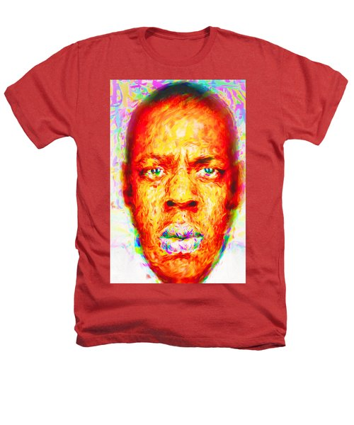 Jay-z Shawn Carter Digitally Painted Heathers T-Shirt by David Haskett
