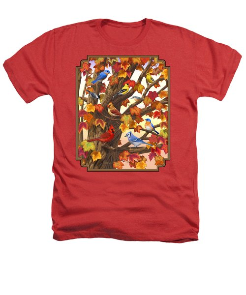 Maple Tree Marvel - Bird Painting Heathers T-Shirt by Crista Forest