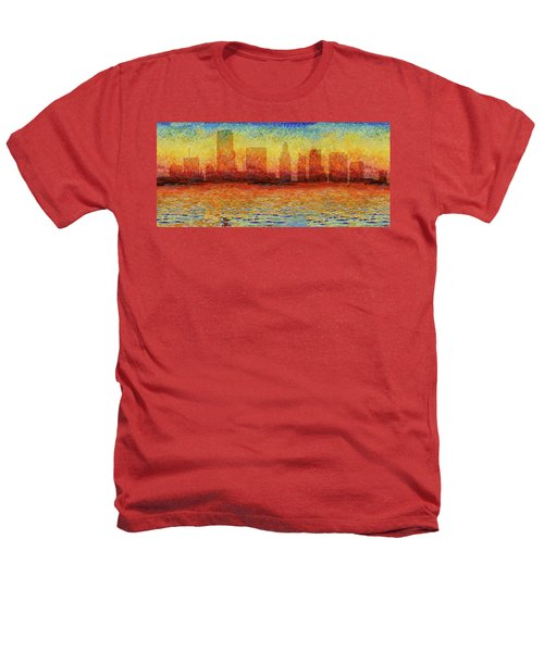 Miami Skyline 5 Heathers T-Shirt by Andrew Fare