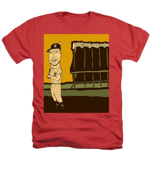 Mickey Mantle Yankee Stadium Heathers T-Shirt by Jay Perkins