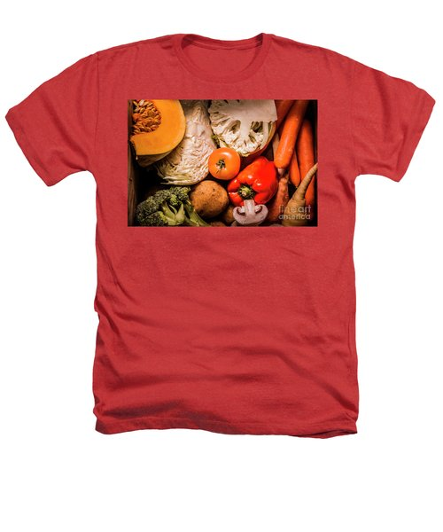 Mixed Vegetable Produce Pack Heathers T-Shirt by Jorgo Photography - Wall Art Gallery