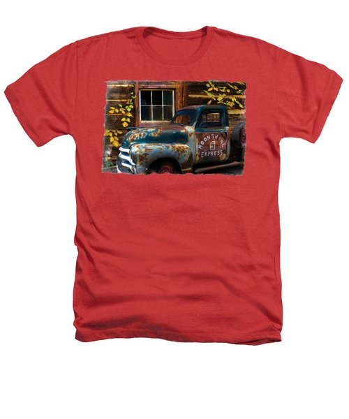 Moonshine Express Bordered Heathers T-Shirt by Debra and Dave Vanderlaan