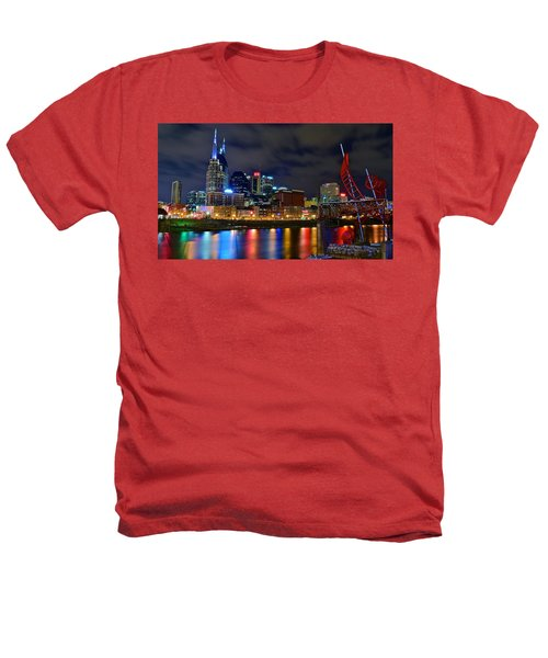 Nashville After Dark Heathers T-Shirt by Frozen in Time Fine Art Photography