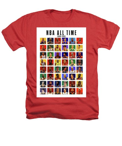 Nba All Times Heathers T-Shirt by Semih Yurdabak