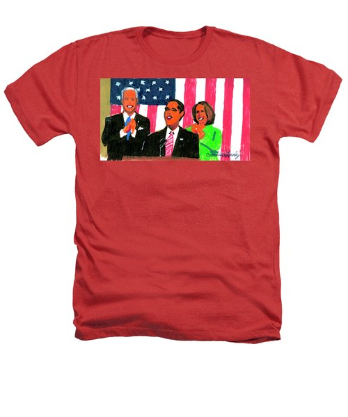 Obama's State Of The Union '10 Heathers T-Shirt by Candace Lovely