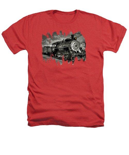 Old 104 Steam Engine Locomotive Heathers T-Shirt by Thom Zehrfeld