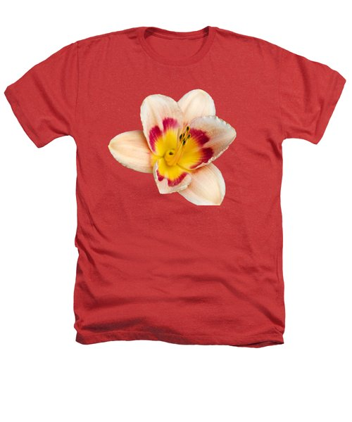 Orange Yellow Lilies Heathers T-Shirt by Christina Rollo