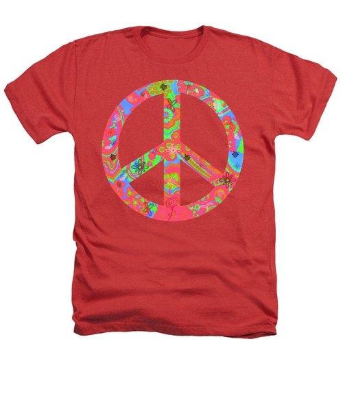 Peace Heathers T-Shirt by Linda Lees