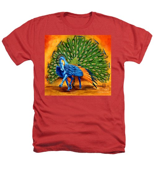 Peacock Pegasus Heathers T-Shirt by Melissa A Benson