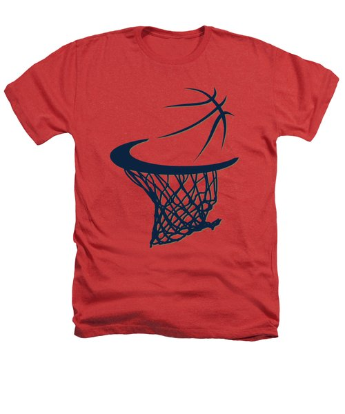 Pelicans Basketball Hoop Heathers T-Shirt by Joe Hamilton