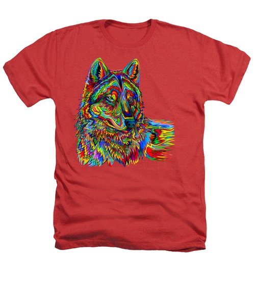 Psychedelic Wolf Heathers T-Shirt