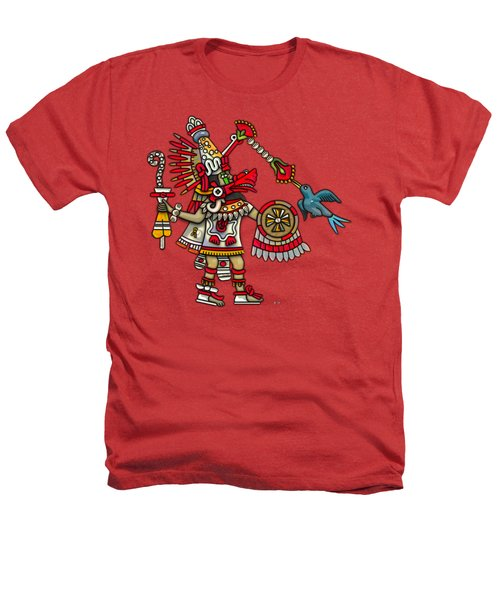 Quetzalcoatl In Human Warrior Form - Codex Magliabechiano Heathers T-Shirt by Serge Averbukh