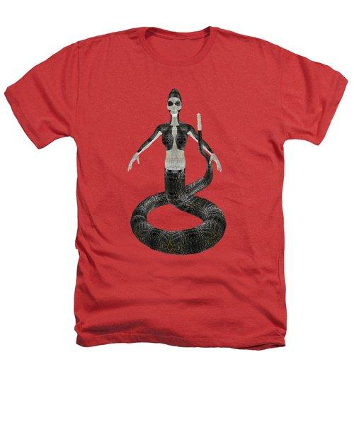 Rattlesnake Alien World Heathers T-Shirt by Dora Hembree