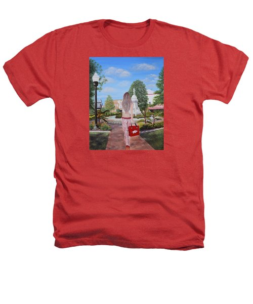 Razorback Swagger At Bentonville Square Heathers T-Shirt by Belinda Nagy