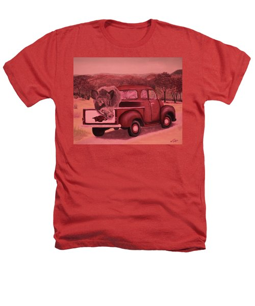 Ridin' With Razorbacks 3 Heathers T-Shirt by Belinda Nagy