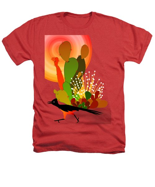 Roadrunner Sunrise Heathers T-Shirt by Methune Hively