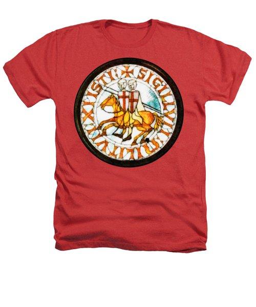 Seal Of The Knights Templar Heathers T-Shirt by John Springfield
