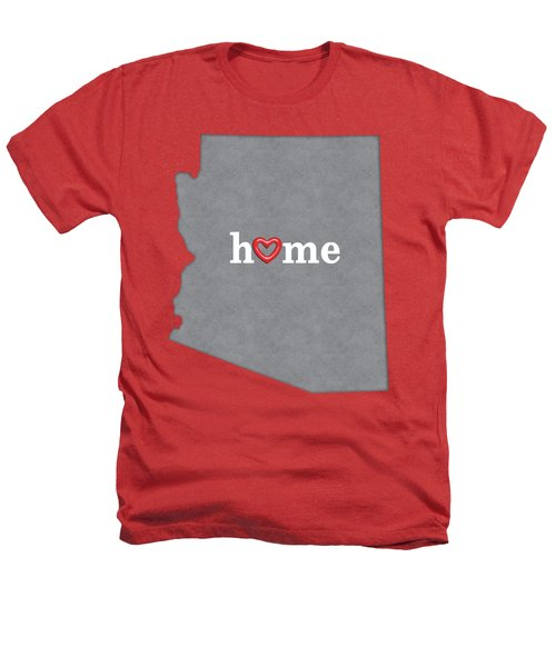 State Map Outline Arizona With Heart In Home Heathers T-Shirt