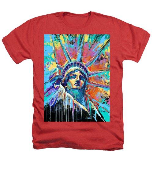 Statue Of Liberty New York Art Usa Heathers T-Shirt