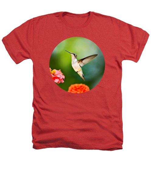 Sweet Promise Hummingbird Heathers T-Shirt by Christina Rollo