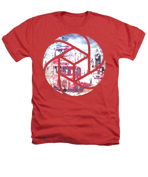 Trendy Design London Red Buses  Heathers T-Shirt by Melanie Viola