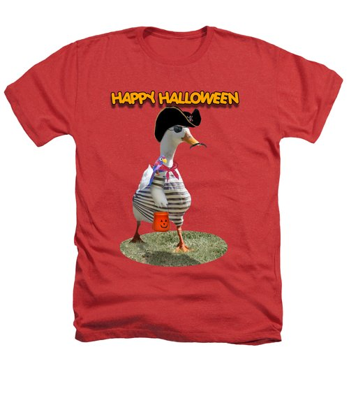 Trick Or Treat For Cap'n Duck Heathers T-Shirt by Gravityx9 Designs