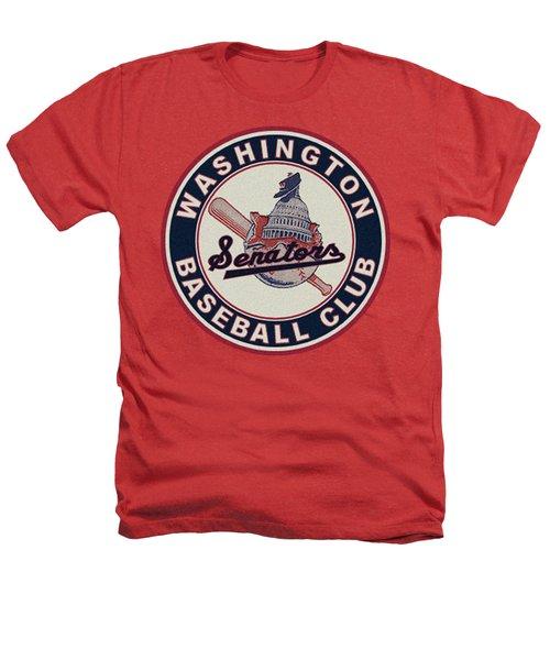 Washington Senators Retro Logo Heathers T-Shirt
