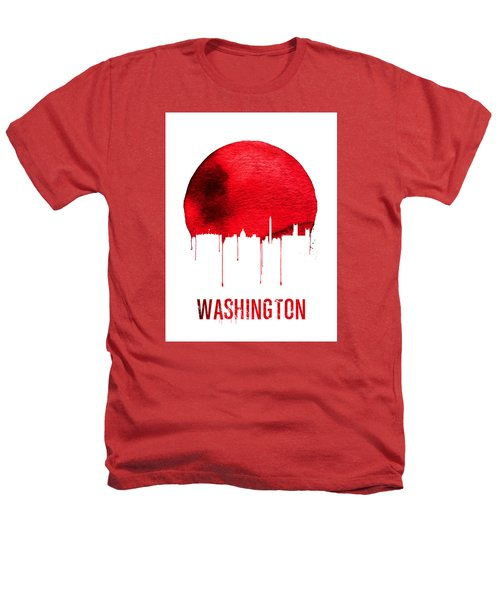 Washington Skyline Red Heathers T-Shirt by Naxart Studio