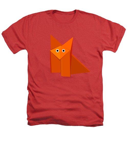 Yellow Cute Origami Fox Heathers T-Shirt by Boriana Giormova