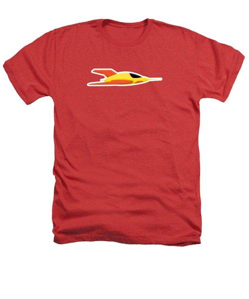 Yellow Space Rocket Heathers T-Shirt
