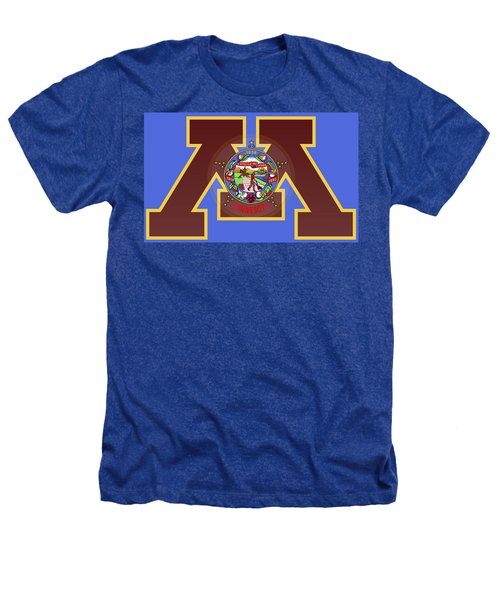 U Of M Minnesota State Flag Heathers T-Shirt by Daniel Hagerman