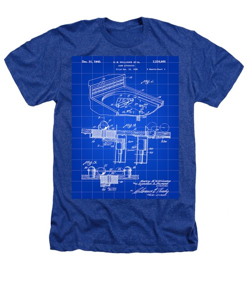 Pinball Machine Patent 1939 - Blue Heathers T-Shirt by Stephen Younts