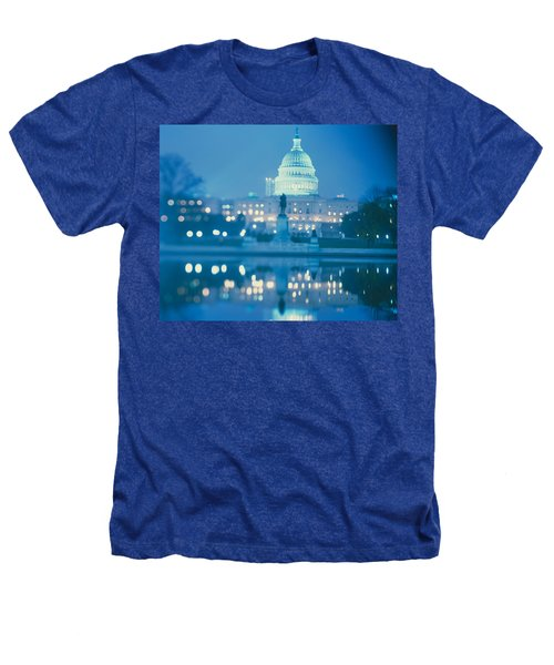Government Building Lit Up At Night Heathers T-Shirt by Panoramic Images