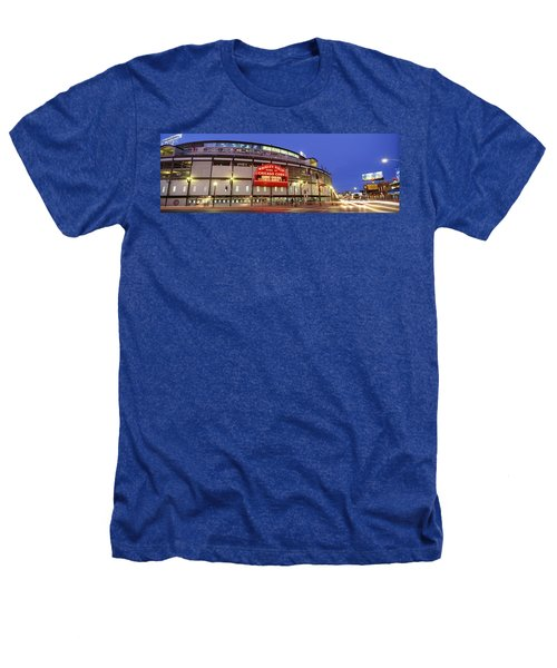 Usa, Illinois, Chicago, Cubs, Baseball Heathers T-Shirt by Panoramic Images