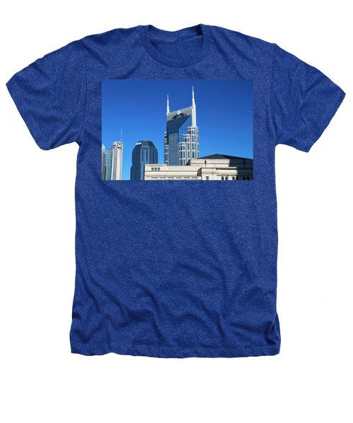 Batman Building And Nashville Skyline Heathers T-Shirt by Dan Sproul
